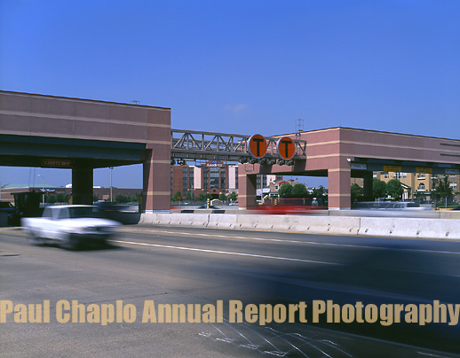 Toll Road Plaza Booth Digital Annual Report Photography Dallas Photographer Infrastructure Roads Bridges Water Rail Shipping Tunnels Highways Transportation Public Transportation Airports